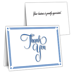 Discounted Bulk Business Thank You Cards Inside Greeting
