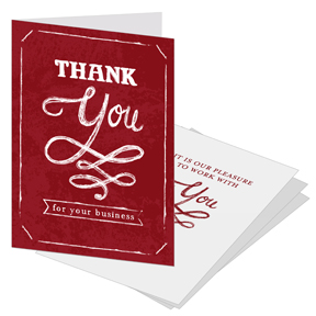 Thank You Card with business card slot