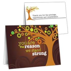 Stand Strong Business Thank You Card