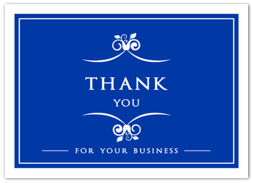Thank you cards on sale business greeting cards t278 thank you card blue thanks m4hsunfo