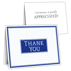 Formal Business Thank You Card with Slots